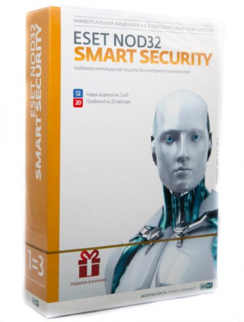 ESET NOD32 Smart Security - лицензия на 2 года на 3ПК