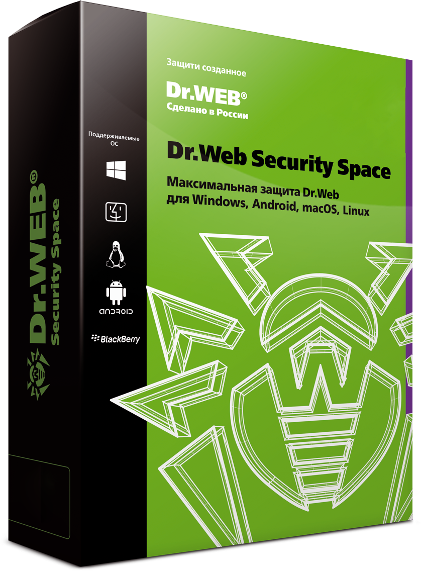 Dr. Web Security Space, renewal for 12 months 3 licenses